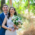 An Avital Saporta Bride for a Front Yard Jewish Pandemic Wedding in Tel Mond, Israel