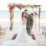 A Winnie Couture Bride for a Boho Chic Jewish Wedding on the Beach at Mahayana Tulum, Tulum, Mexico
