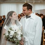 A Helena Kolan Bride for a Tarrytown-Meets-Tel Aviv Jewish Wedding at Sleepy Hollow Country Club, New York, USA