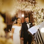A Suzanne Neville Bride for an Elegant Winter Jewish Micro Wedding with a Wild Backstory at Down Hall Hotel & Spa, Essex, UK