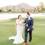 A Pronovias Bride for a Desert Jewish Wedding at McCormick Ranch Golf Club, Arizona, USA