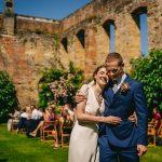 A Laure de Sagazan Bride for an Interfaith Jewish Wedding at Newburgh Priory, West Yorkshire, UK